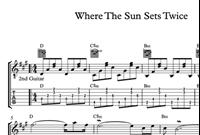 Hình ảnh của Where The Sun Sets Twice Sheet Music & Tabs