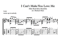 Imagen de I Can't Make You Love Me Sheet Music & Tabs