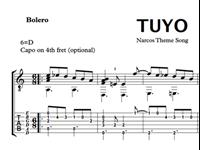 Imagen de Tuyo (Narcos Theme Song) Sheet Music & Tabs