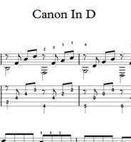 Bild von Canon In D (Pachelbel) Sheet Music & Tabs Download